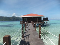 Explore Sabah, Mantabuan Island, Semporna 2014 - View of The mini Jetty