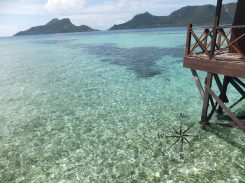 Explore Sabah, Mantabuan Island, Semporna 2014 - View of the Sea From The mini Jetty