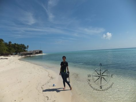 Explore Sabah, Mantabuan Island, Semporna 2014 – Me against the beautiful backgrounds