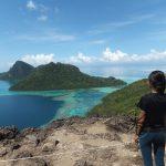 Explore Sabah Day 19: Bohey Dulang, Semporna - Me viewing in awe