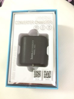 Hoco Universal Converter Charger AC1 Box View of Product