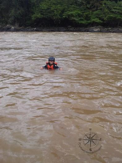 Padas Water Rafting Taking a break photo taking 4.11.2014 swim in muddy water