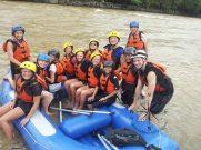 Padas Water Rafting Taking a break group photo 4.11.2014