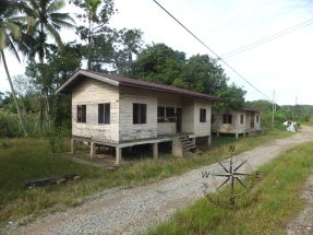 Sabah Padas Water Rafting in Train View of Abandoned House