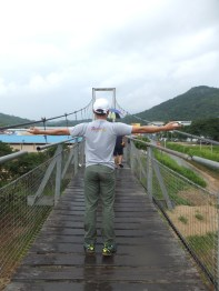 Tamparuli Suspension Bridge with Rudy BBH Staff