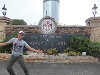 Yayasan Sabah Menara Tun Mustapha Entrance with Rudy, BBH Staff