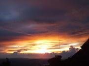 Breathtaking sunset from Mount Kinabalu Lemaing Hostel