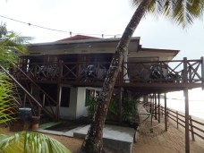 Seaside Travellers Inn Restaurant with Beach view in Kinarut