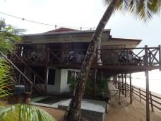 Seaside Travellers Inn Restaurant with Beach view in Kinarut