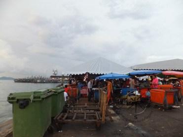 Kota Kinabalu market by the sea