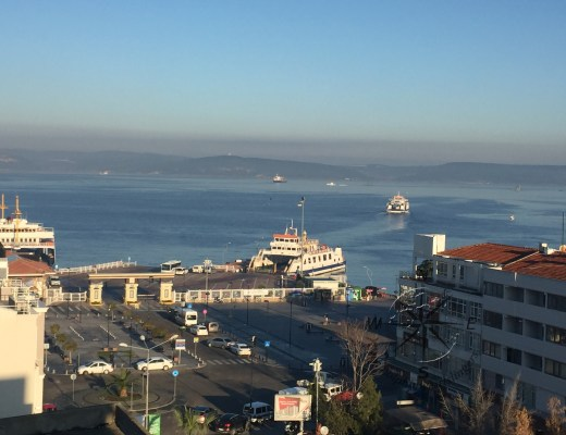 Explore Canakkale, Turkey-Canak Hotel Restaurant Outdoor View of Dardanelles