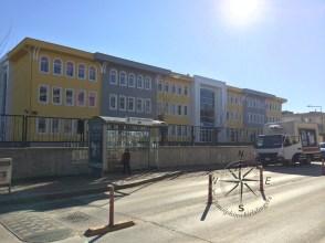 Explore Canakkale, Turkey – Bus Stop near a middle school in Canakkale