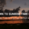 Dawn to Sunrise Time lapse at Pasir Ris Park on 7 July 2019
