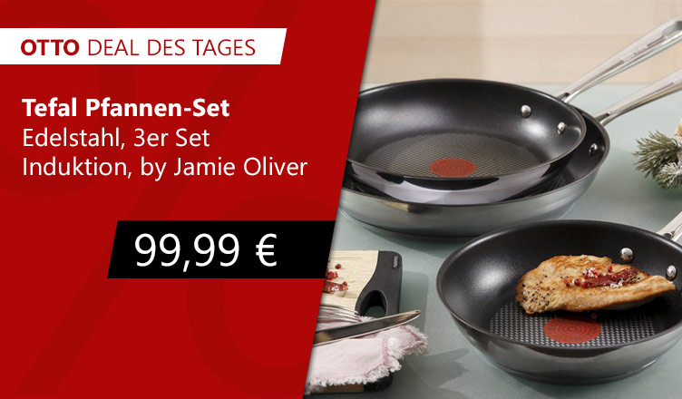 OTTO Deal des Tages Tefal Induktion Pfannen Set bei otto.de