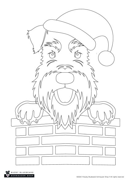 Christmas colouring pack - santa