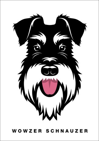 wowzer schnauzer silver and black poster