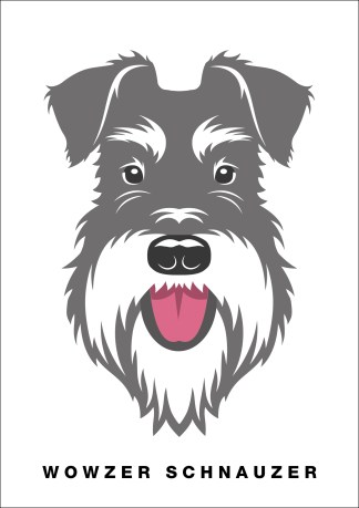 poster wowzer schnauzer salt and pepper