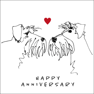 happy anniversary sketch card