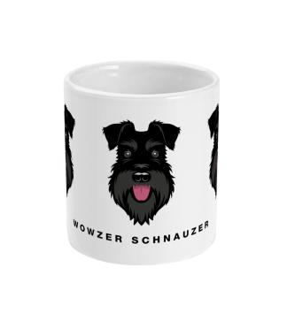 wowzer schnauzer mug all black centre view