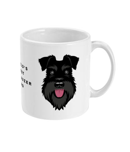 Mug best dad All Black Right side mockup