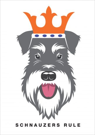 schnauzers rule poster salt and pepper dog