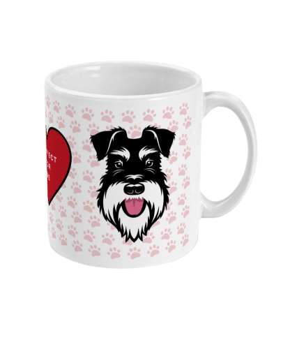 valentine mug pawfect for me silver and black right view