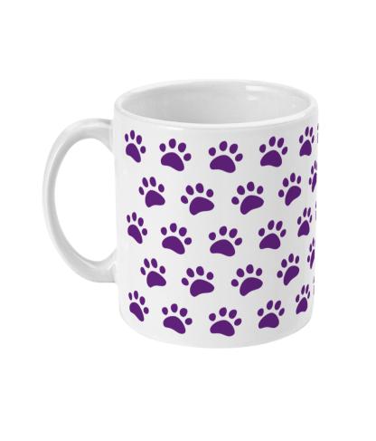mug paw print purple left view