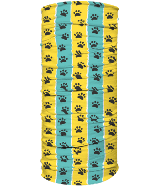 neck warmer teal and yellow stripe