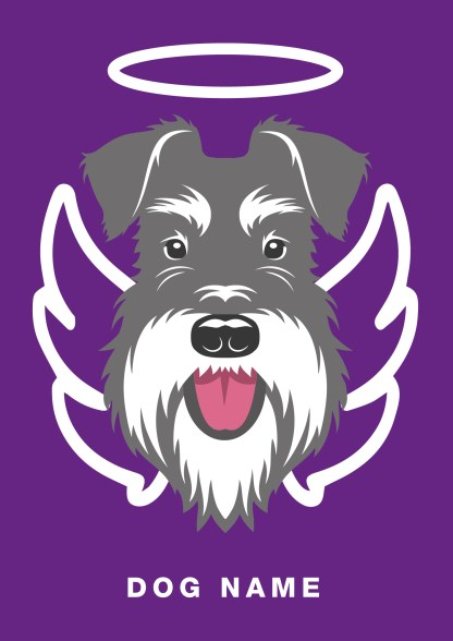 angel poster with salt and pepper schnauzer