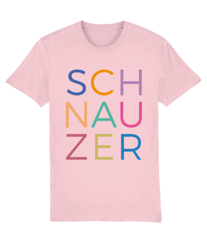 Pink T-shirt multicoloured letters flat on