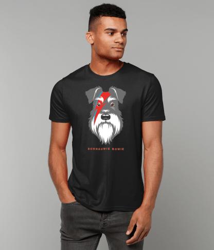 black t-shirt salt and pepper dog bowie flash male 1