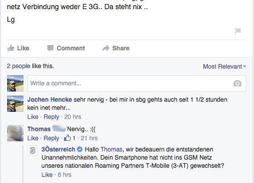 So ging das ganze auf Facebook los.