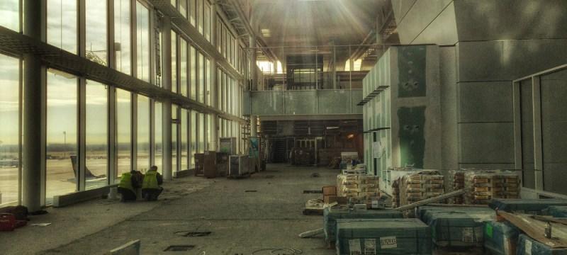 Baustelle Satelliten-Terminal Flughafen MUC