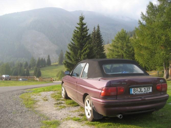Ford Escort an der Leonhardhütte in Kärnten #MeinErstesAuto