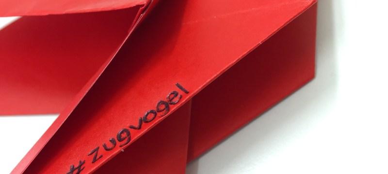 Origami-Zugvogel