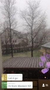 Stiegl-Periscope vom Schneefall