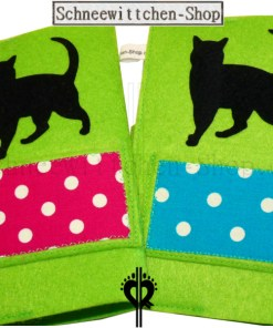 Katzenpasshüllen Moritz in blau-grün