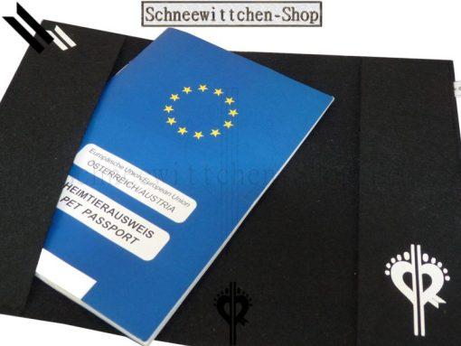 EU-Heimtierausweis Hülle Heimtierausweis Impfpass Hülle Mittelschnauzer