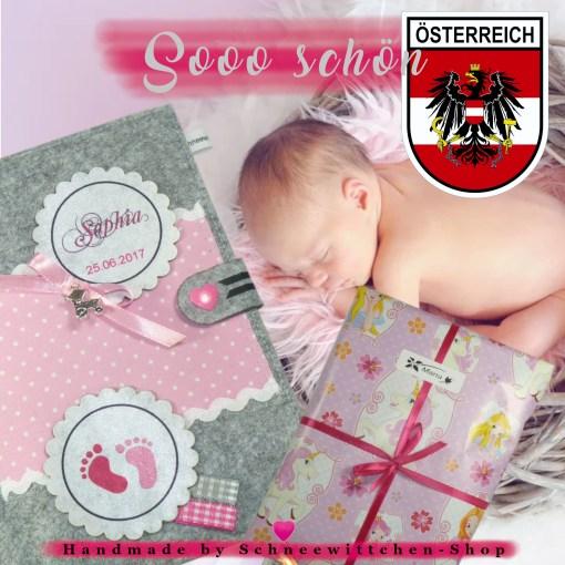 Österreichische Mutter-Kind-Pass Hülle MUKI Passhülle