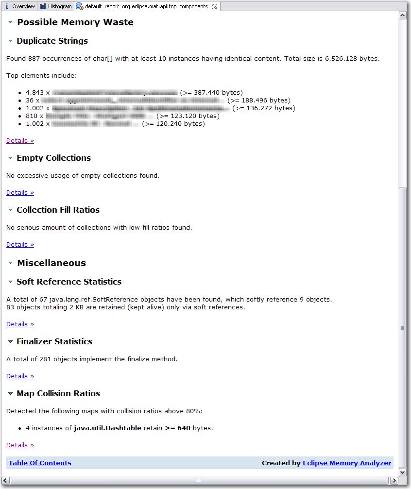MAT Component Report