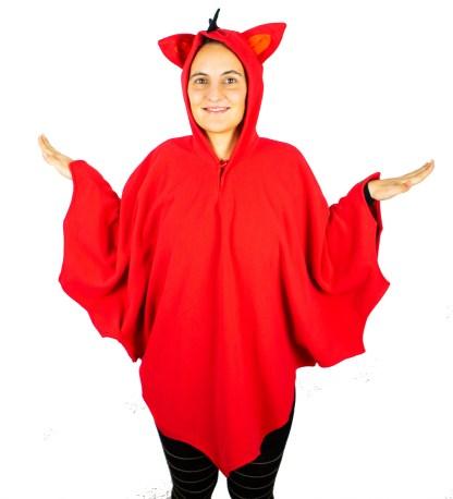 Kostüm roter Drache für Karneval