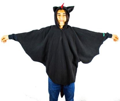 Kostüme schwarzer Drache für Erwachsene