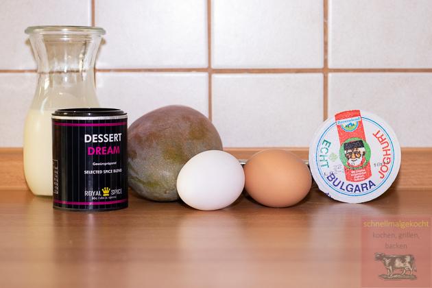 Mango Parfait mit Joghurt Pancakes