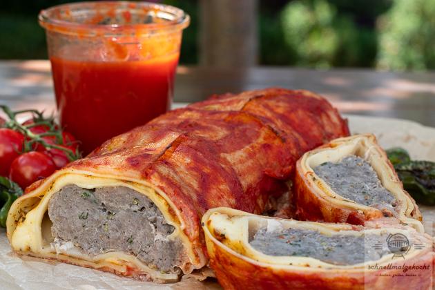 Lasagne Bacon Bomb