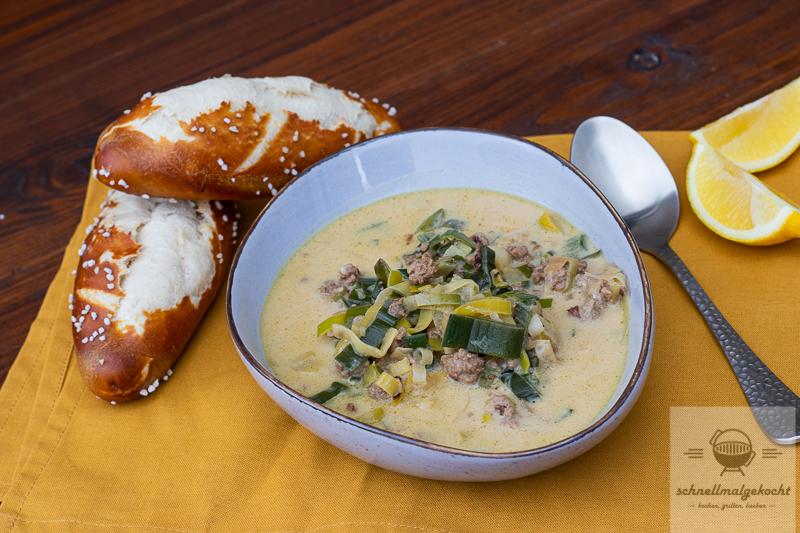 Bier-Käse-Lauch-Suppe
