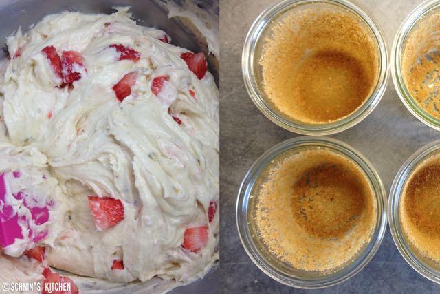 Schnin's Kitchen: Frühling im Paket: Erdbeer-Amaretto-Kuchen im Glas