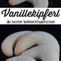Vanillekipferl mit echter Vanille