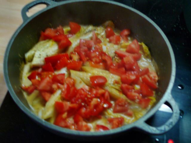 Chicoree,Kartoffeln,gebackener Feta (15)