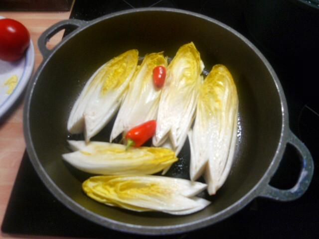 Chicoree,Kartoffeln,gebackener Feta (8)