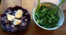 13.2.16 - Grünkernsuppe,Rote Bete,Büffelmozerella,Feldsalat,vegetarisch (12)